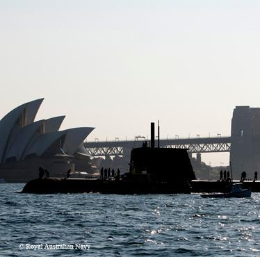 HMAS COLLINS arrives in Sydney Harbour. HMAS COLLINS is the first Collins Class submarine to visit Sydney for more than two years.