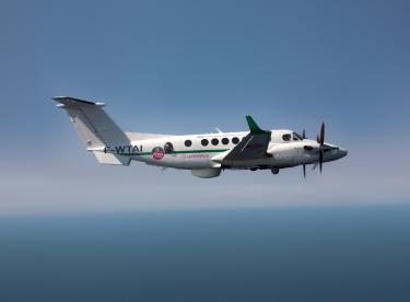Surveillance-ready Beechcraft King Air